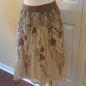 Anthropologie Viola Silk/Cotton Skirt 0020